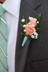 Double Bloom Spray Rose Boutonniere