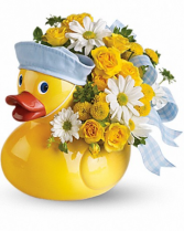 Ducky Delight Keepsake New Baby Arrangement