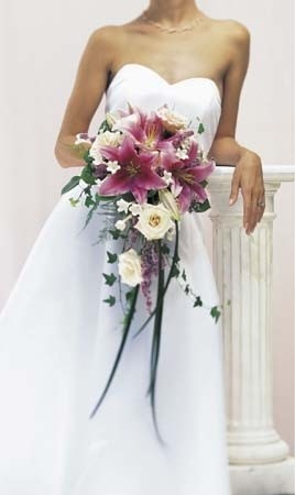 A Bridal Bouquet Featuring 1 Striking Stargazer Lily