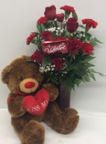 Endless Love with Chocolate and Bear Arrangement
