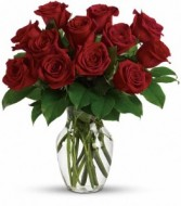 Enduring Passion Red Roses Arranged