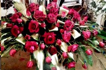 Exotic Rest Bouquet  Casket Spray (Roses)