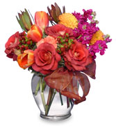 FALL FLIRTATIONS Vase Arrangement in Huntsville, AL | GATEHOUSE FLOWERS