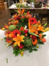 Fall Tribute for Cremation Urn Funeral