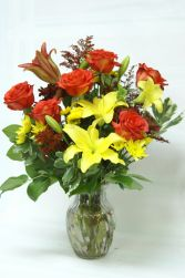 Classic Fall Vase in Edmonton, AB | JANICE'S GROWER DIRECT