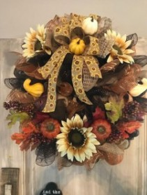 Fall Wreath with Decor