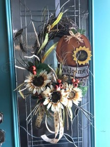 Fall Wreath with Pumpkin  in Albany, GA | WAY'S HOUSE OF FLOWERS