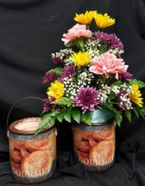 Cheerful Giver's Farm Fresh Candle Bouquet Everyday; Local Delivery