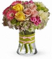 Fashionista Blooms  Floral Arrangement (T155-1A) in Fairbanks, AK | A BLOOMING ROSE FLORAL & GIFT