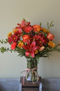 Fiery Rose Custom Fitzgerald Flowers Arrangement
