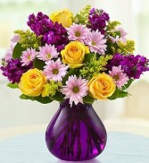 Floral Devotion Purple Keepsake Vase in Leominster, MA | DODO'S PHLOWERS