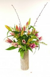 Fragrant lilies and exotic tulips.  36