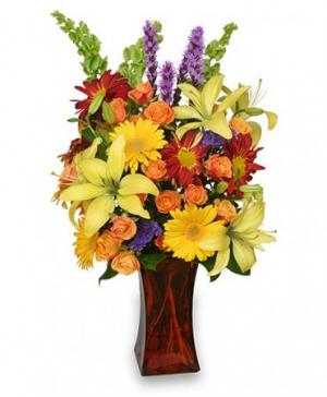Canyon Sunset Arrangement in Lyford, TX | VARIETY FLOWERS & GIFTS