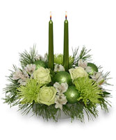 Glowing Green Arrangement