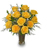 LEMON DROP ROSES Bouquet Best Seller in Claresholm, AB | FLOWERS ON 49TH