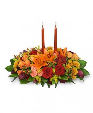 Thanksgiving Feast Centerpiece in Cary, IL | PERIWINKLE FLORIST