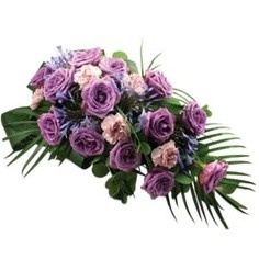 Funeral Sheave in Purple   in Bowerston, OH | LADY OF THE LAKE FLORAL & GIFTS