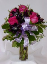 FUSHIA & PURPLE FAVORITES- Roses & Gifts