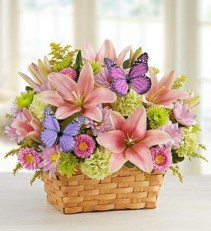 Garden Inspiration Basket Arrangement
