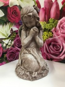 Girl Angel with Bow Garden or Home Decor