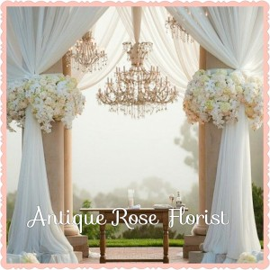 Glamorous Curtain Flowers Wedding
