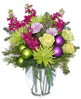 GLITZY HOLIDAY PARTY Flower Arrangement