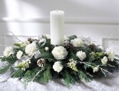 GLOWING ELEGANCE Grand Candle Centerpiece