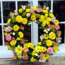 Golden Moments Floral Wreath
