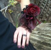 Gothic in Reds Corsage
