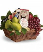 Gourmet Fruit and Cheese Basket