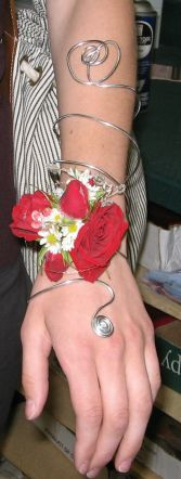 Wrist Corsage-The Grecian  Custom Design. Please call for details and pricing