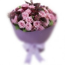 Signature hand tied Roses & Calla Lily bouquet