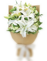 Signature hand tied Lilies bouquet **EXCLUSIVE @ ARIA FLORIST**