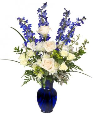 HANUKKAH MIRACLES Floral Arrangement in Enfield, NH | SAFFLOWERS