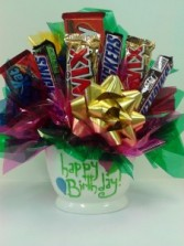 Happy Birthday  Candy Bouquet in Fairbanks, AK | A BLOOMING ROSE FLORAL & GIFT