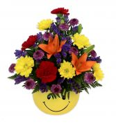 Happy Face Bowl Arrangement in Thunder Bay, ON | GROWER DIRECT - THUNDER BAY