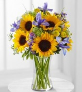 Happy Sunflowers fresh arrangement