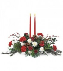 Holiday Delight 2 candle centerpiece TF85-3 Christmas