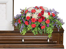 Honorable Dedication Casket Spray