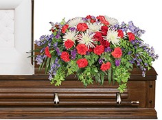 HONORABLE DEDICATION Casket Spray in Spanish Fork, UT | CARY'S DESIGNS FLORAL & GIFT SHOP