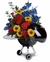 Hot Off The Grill Teleflora Weber Grill arrangement