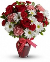 Hugs and Kisses Bouquet  T11Z100B in Fairbanks, AK | A BLOOMING ROSE FLORAL & GIFT