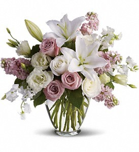 Special Day Roses and Lilies Vase Arrangement in Fairfield, CT | Blossoms at Dailey's Flower Shop
