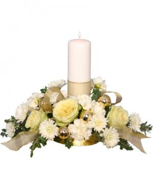 IVORY LIGHT CENTERPIECE Floral Arrangement in West Hills, CA | RAMBLING ROSE FLORIST