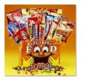 JUNK FOOD JUNKIE BOX Gift Basket in Pembroke, MA | CANDY JAR AND DESIGNS IN BLOOM