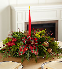 Just Give Me Christmas Greens Centerpiece