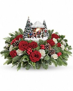 Kinkade's Jolly Santa Bouquet  in Dayton, OH | ED SMITH FLOWERS & GIFTS INC.