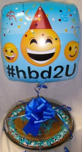 Giant Chocolate Cookie that will INCLUDE a Happy  Birthday Balloon!! You don't need to add it at check out. ( h.b. Balloon may vary) NEED 30 HOUR NOTICE FOR DELIVERY.