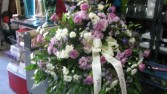 Lavender and White Casket Cover