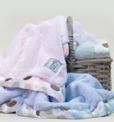 Little Giraffe Luxe Blanket, Blanky and Burpy Set Blue or Pink in Yorba Linda, CA | EVERBLOOMING FLORAL & GIFT